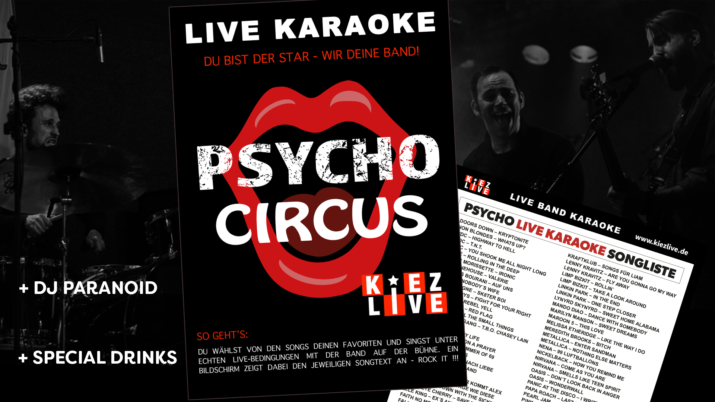 Psycho Live Karaoke DJ Paranoid