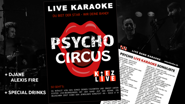 Psycho Live Karaoke mit DJane Alexis Fire